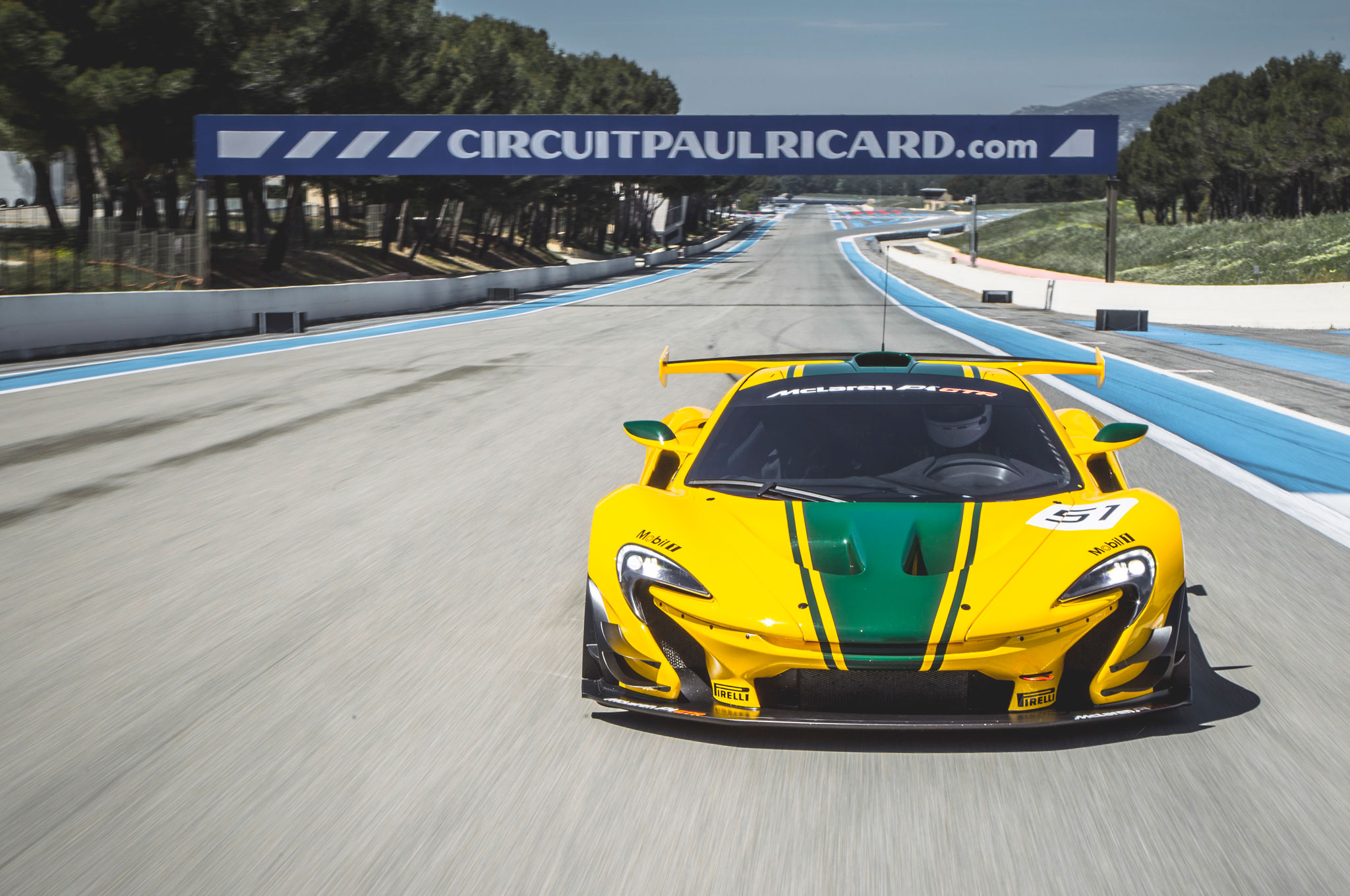 a blistering first drive in the mclaren p1 gtr