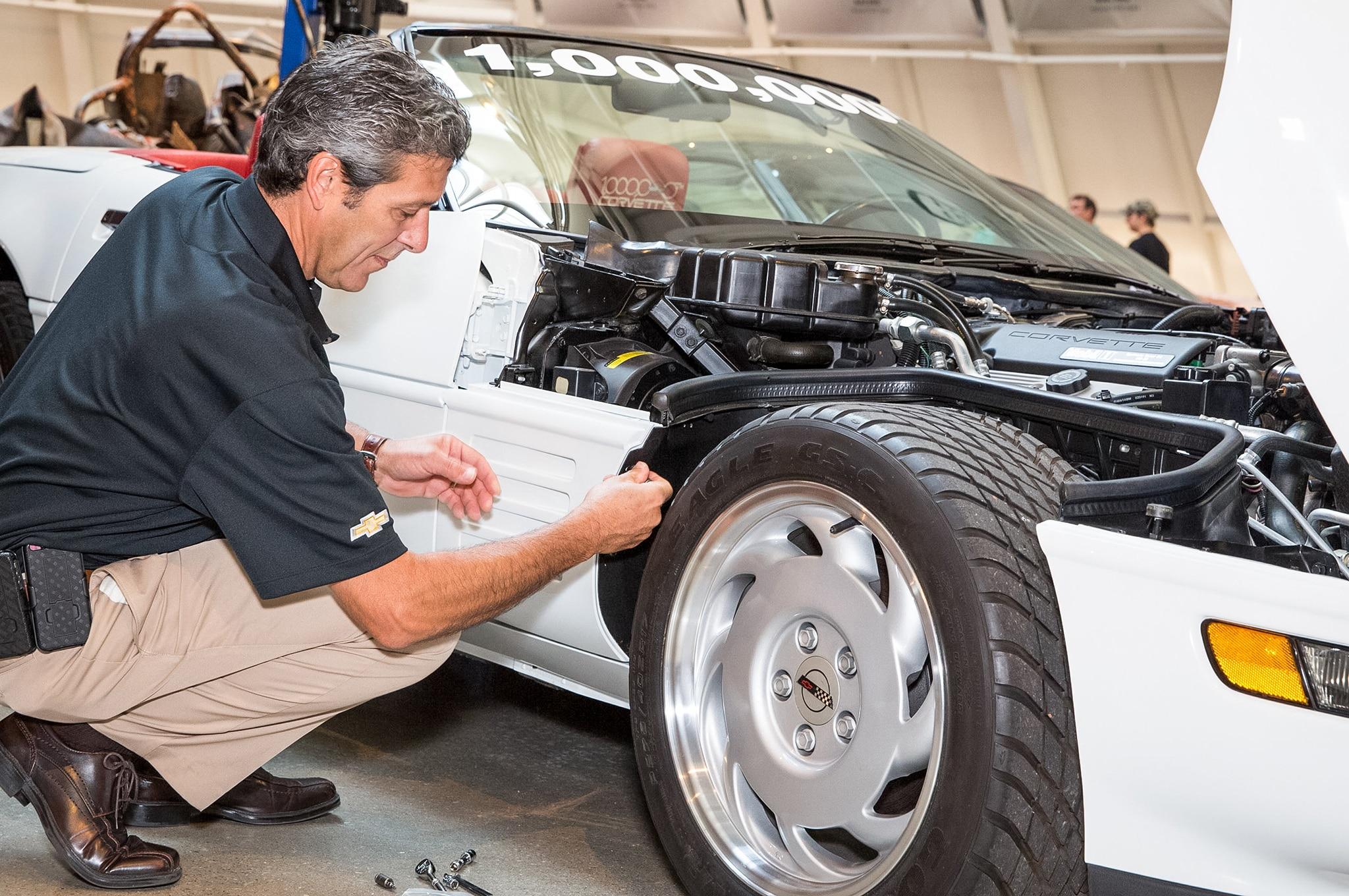 GM Finishes Restoration Of 1992 Chevrolet Corvette Damaged