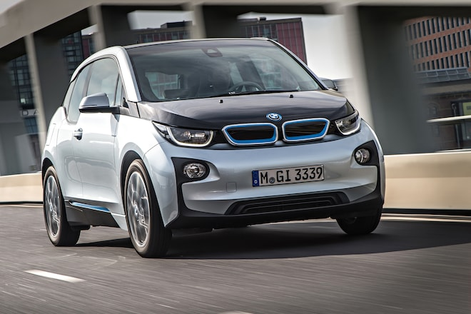 2014 BMW I3 EDrive Front In Motion Low
