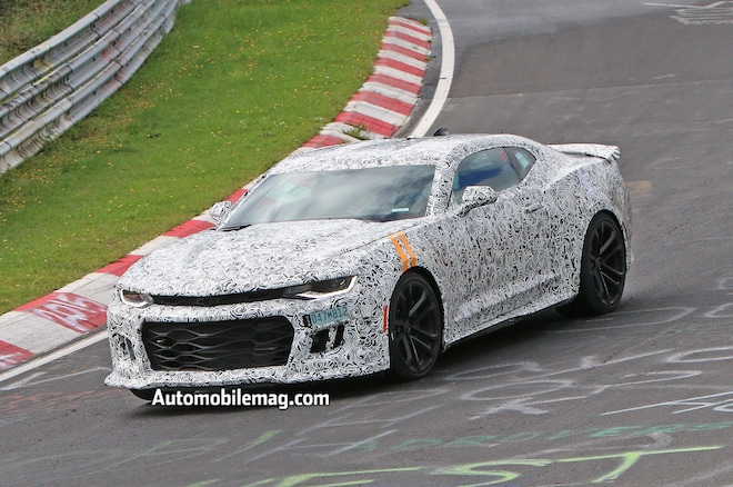 2017 Chevrolet Camaro ZL1 Spied Front Three Quarters Track1