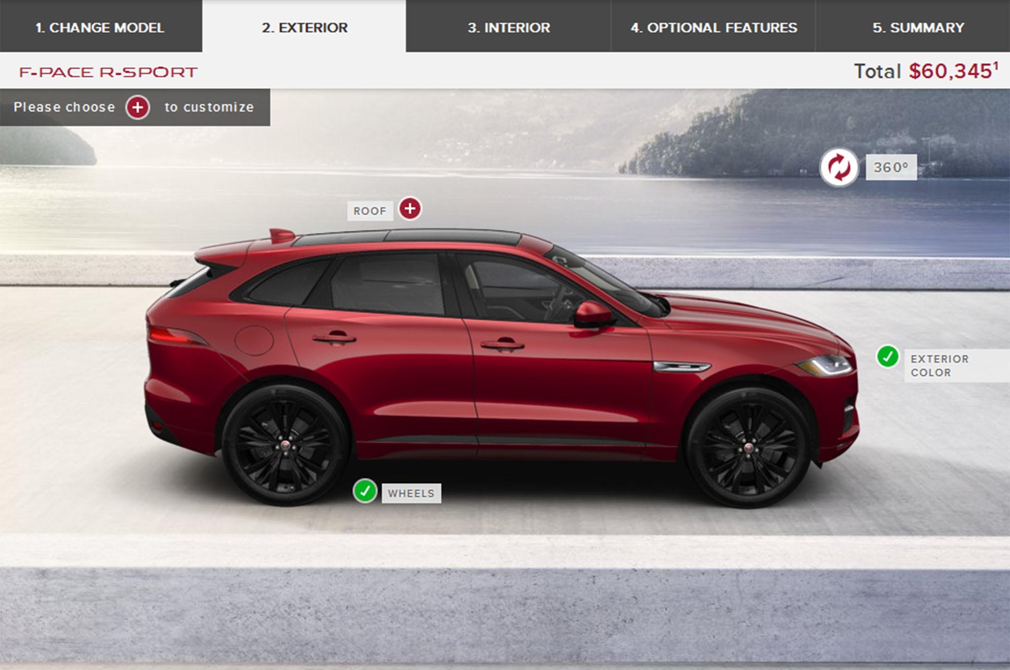 2017 Jaguar Lineup >> 2017 Jaguar F Pace Online Configurator Confirms U S Lineup Pricing