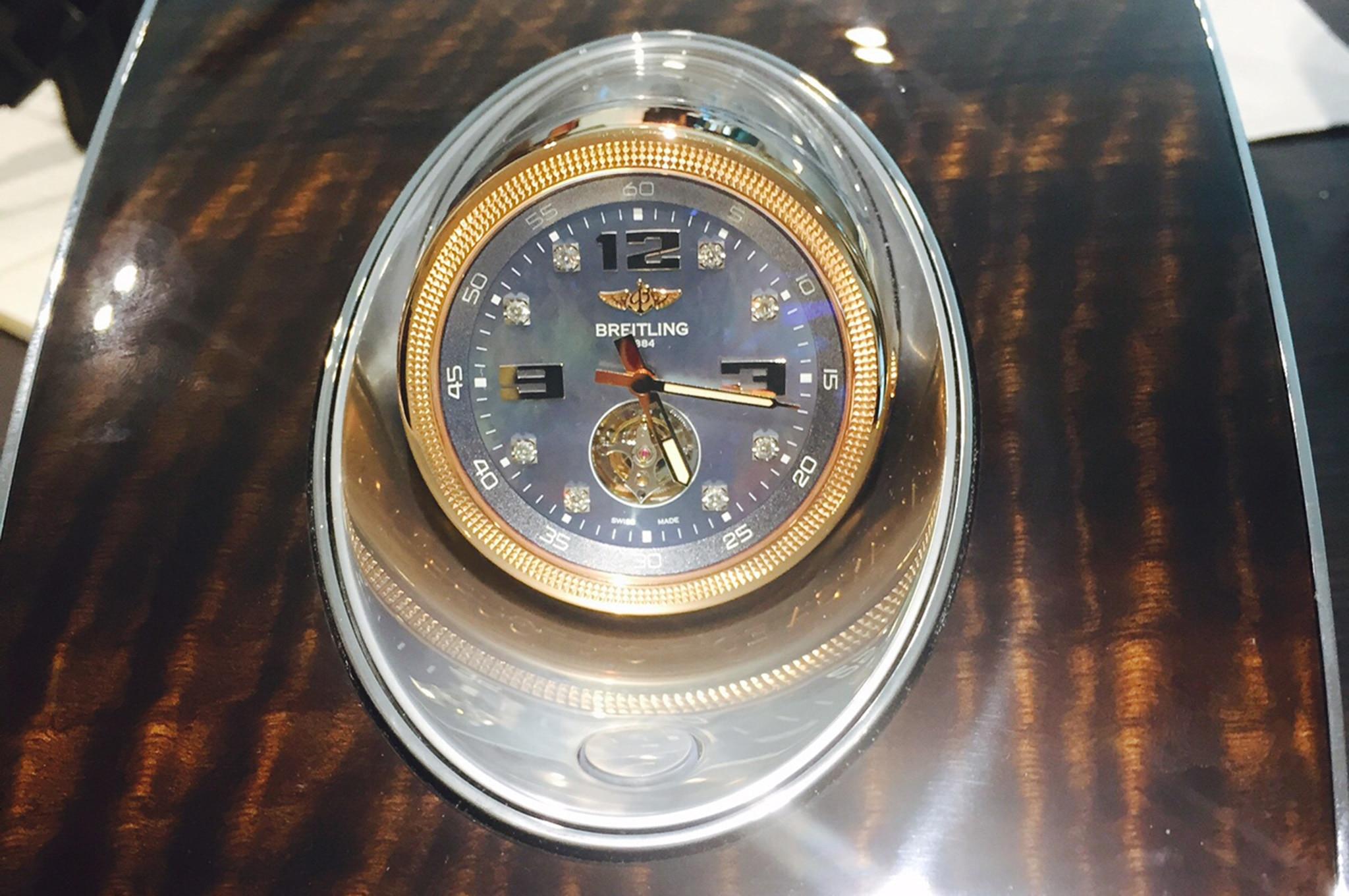 Bentley Bentayga Clock