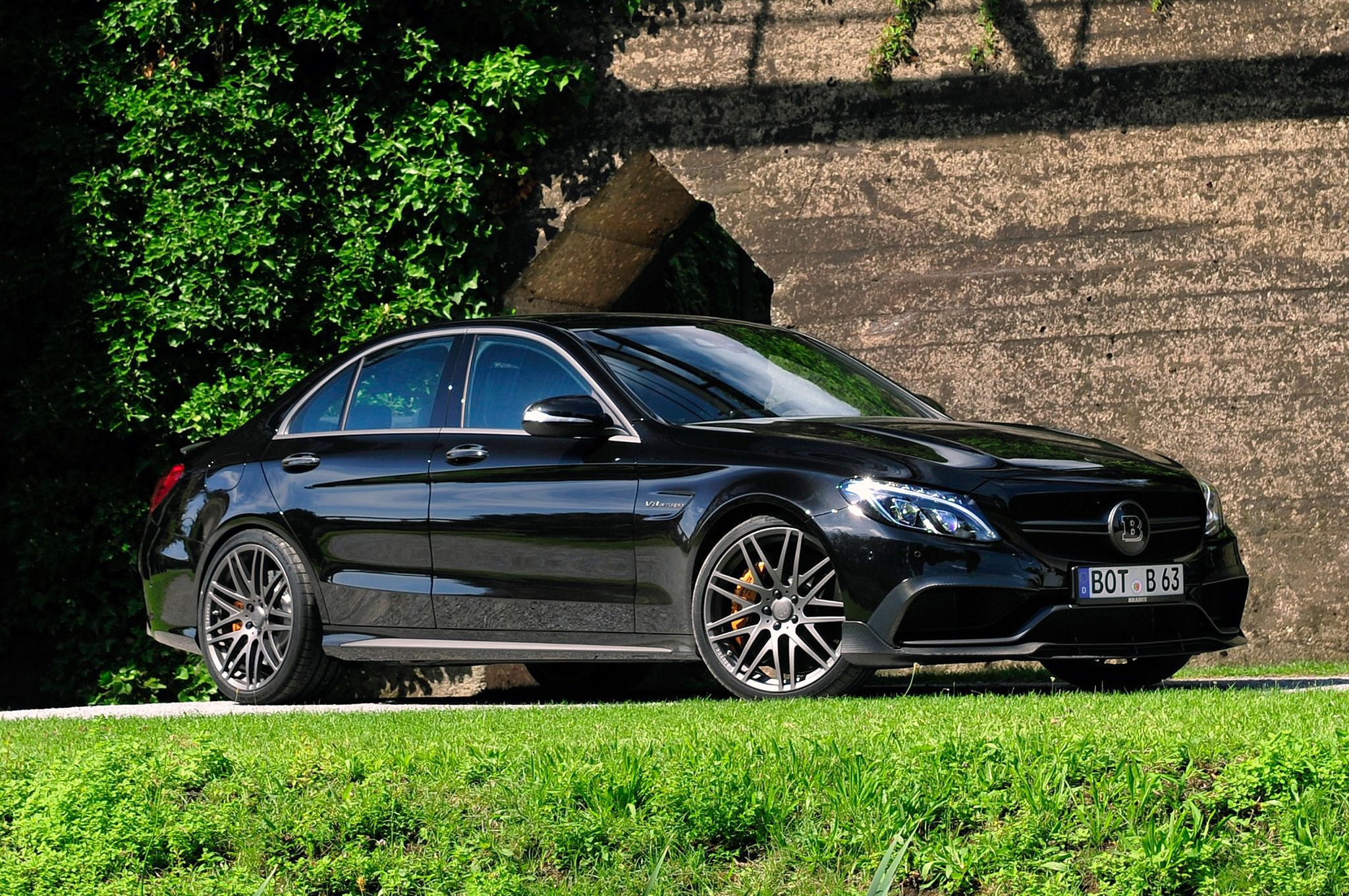 Brabus Mercedes AMG C63 S Sedan Front Three Quarter 2