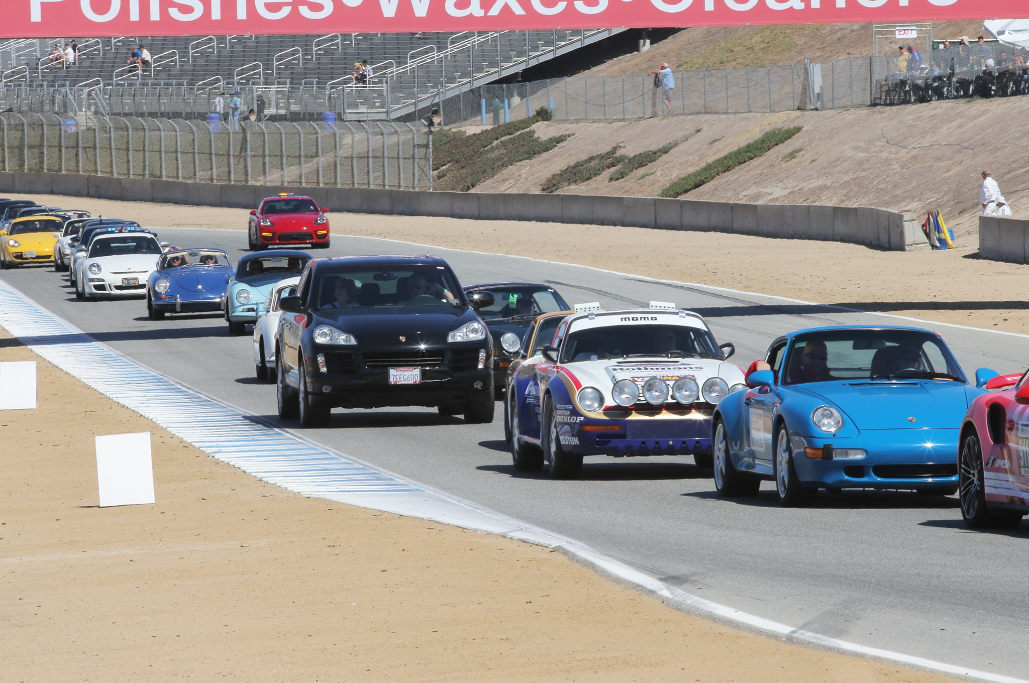 26. Porsche owners jammed the track when given a chance to get on a parade lap.
