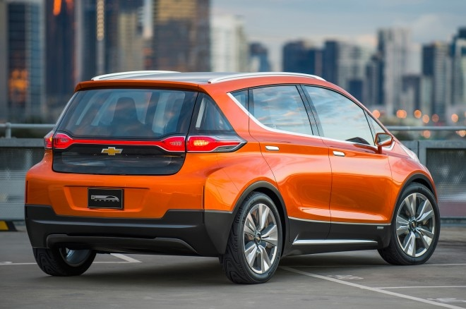 2015 Chevrolet Bolt EV concept rear side view