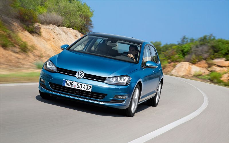 2015 Volkswagen Golf TDI Front End Action Shot