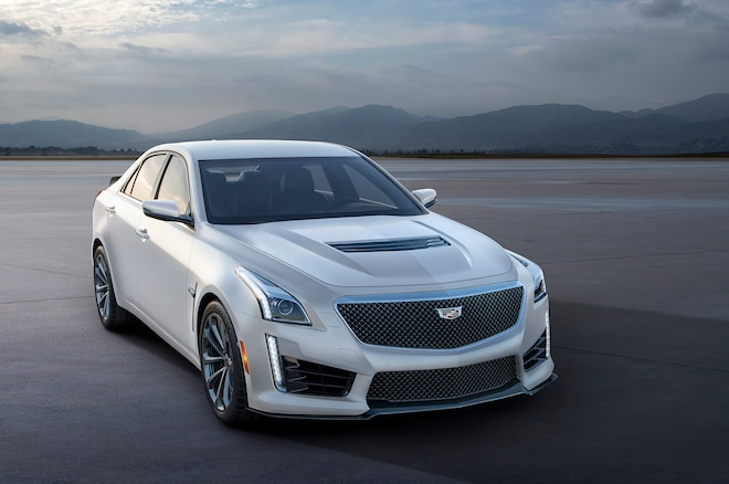 2016 Cadillac CTS V Crystal White Frost1