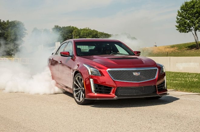 2016 Cadillac CTS V Sedan Tire Burnout1