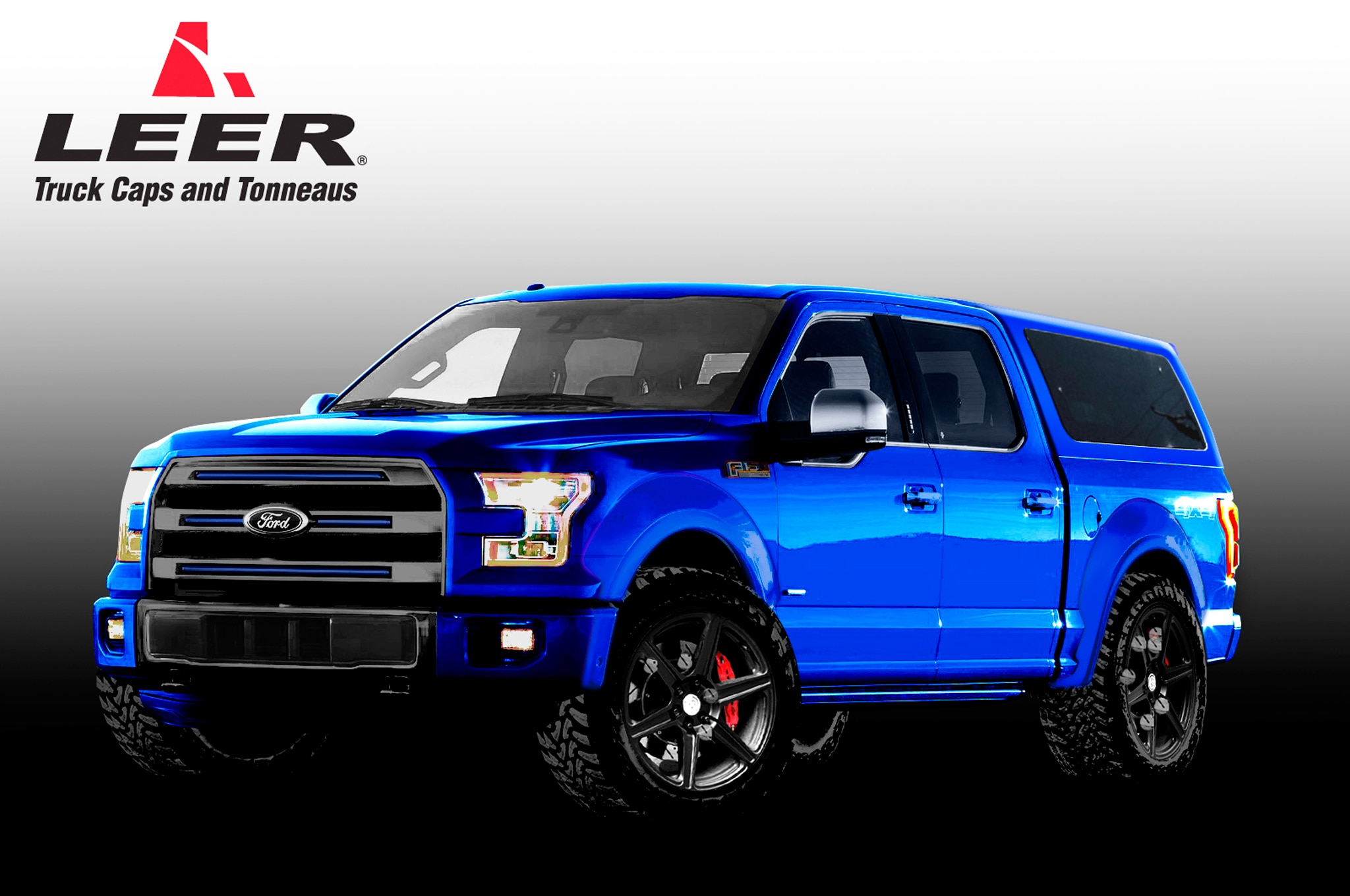 The Leer Edition Ford F  Supercrew Thats Headed To Sema Has A Six Inch Suspension Lift And New Off Road Wheels And Tires But It Also Has A More