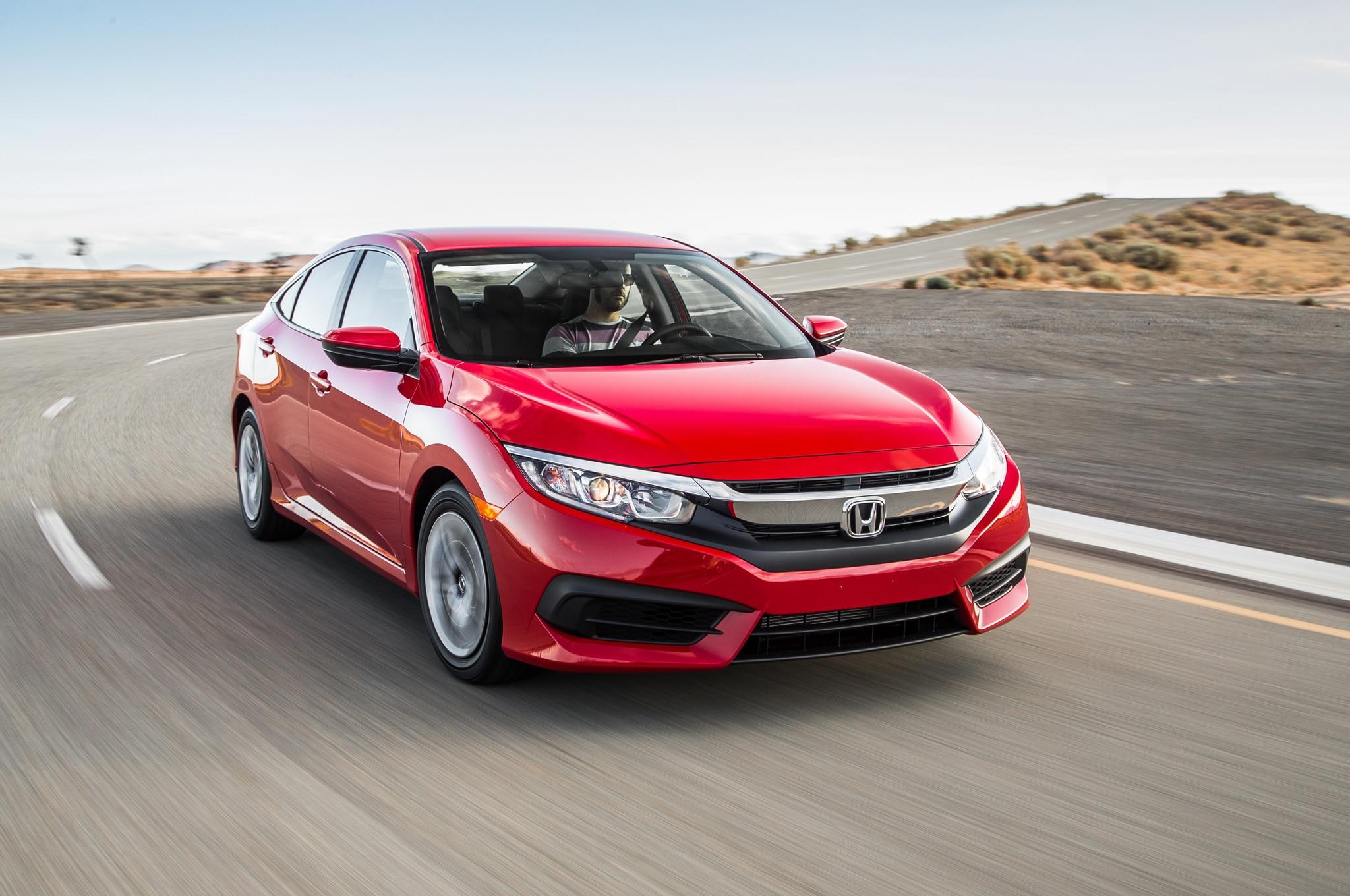 2016 Honda Civic Sedan Front Three Quarter In Motion 02