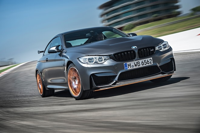 2016 Bmw M4 Gts Front Three Quarters In Motion1