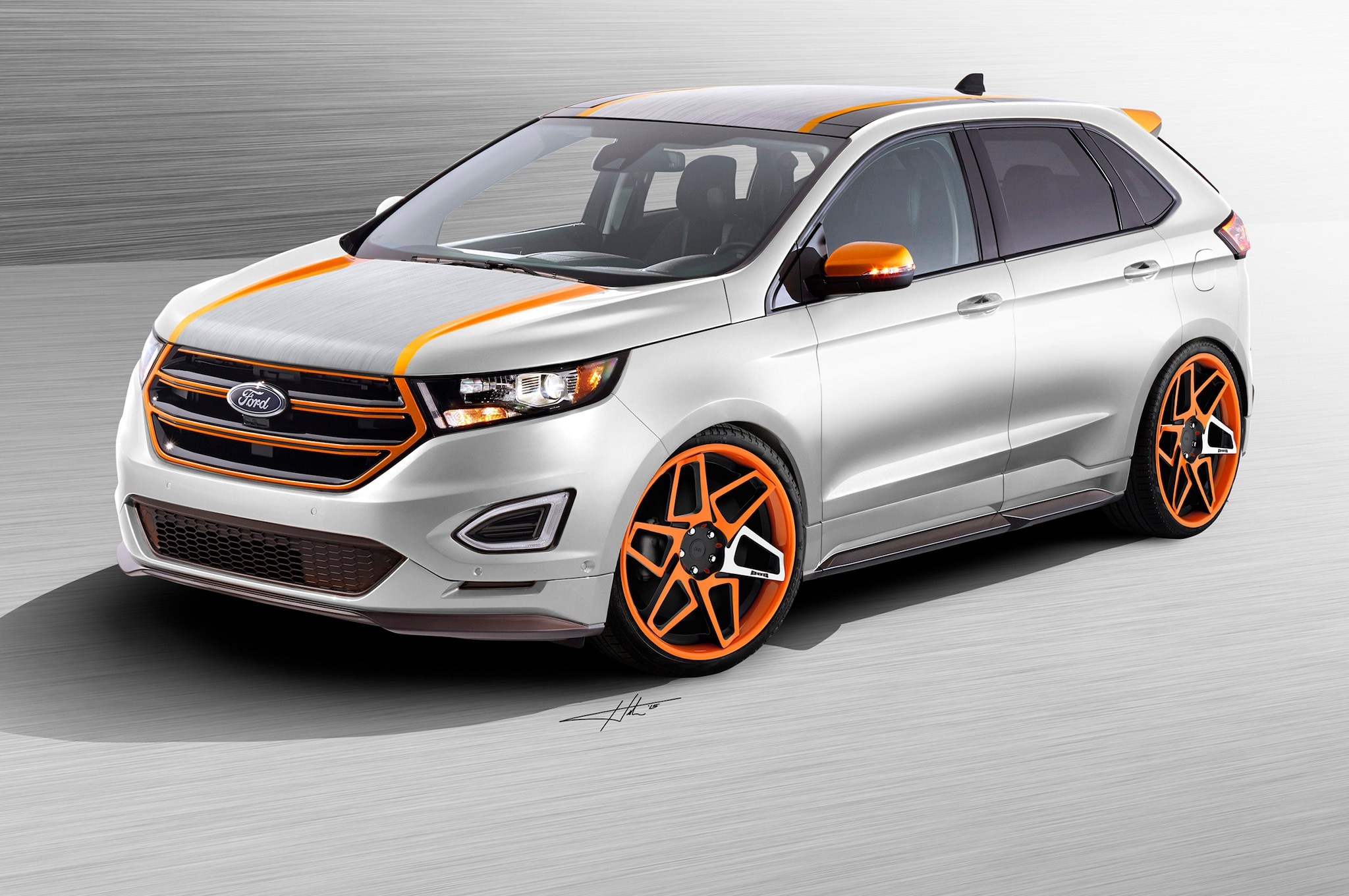 three custom ford edge concepts bound for sema