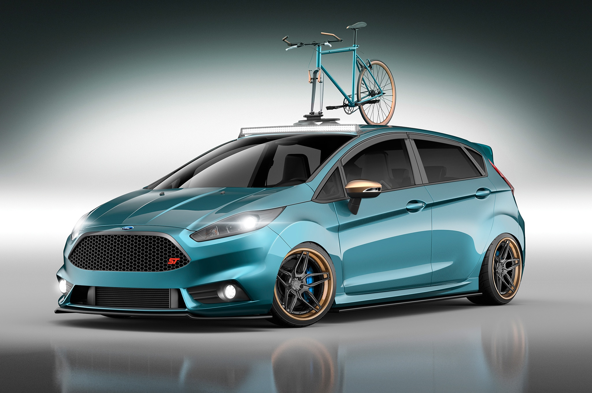 modified ford focus st and fiesta st hot hatches head to sema. Black Bedroom Furniture Sets. Home Design Ideas