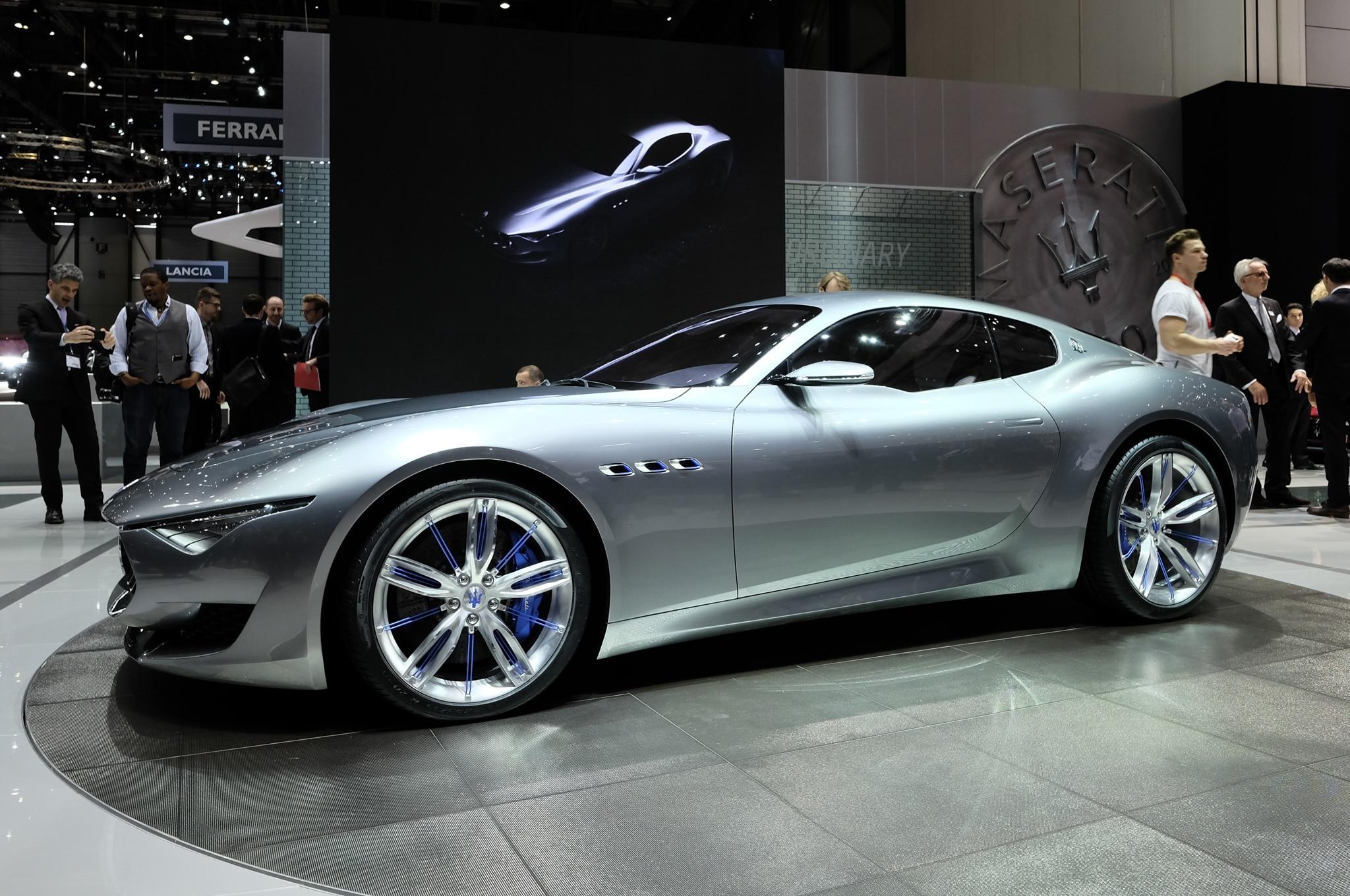 Maserati Alfieri Concept Show Floor Side View