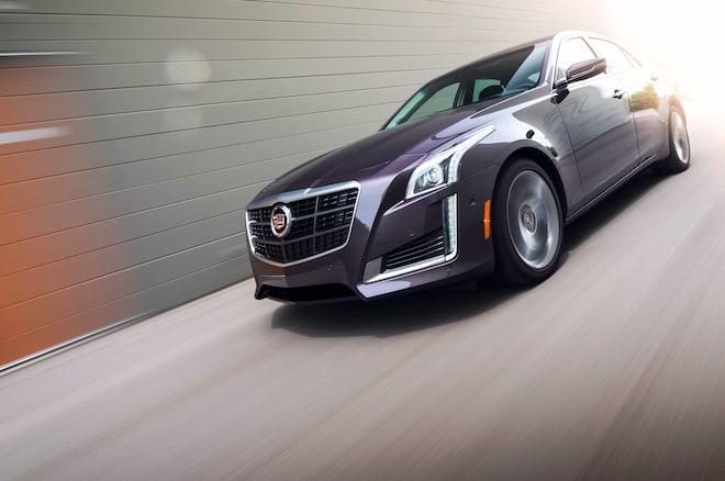 2014 Cadillac Cts Vsport Motion Front Three Quarter 1