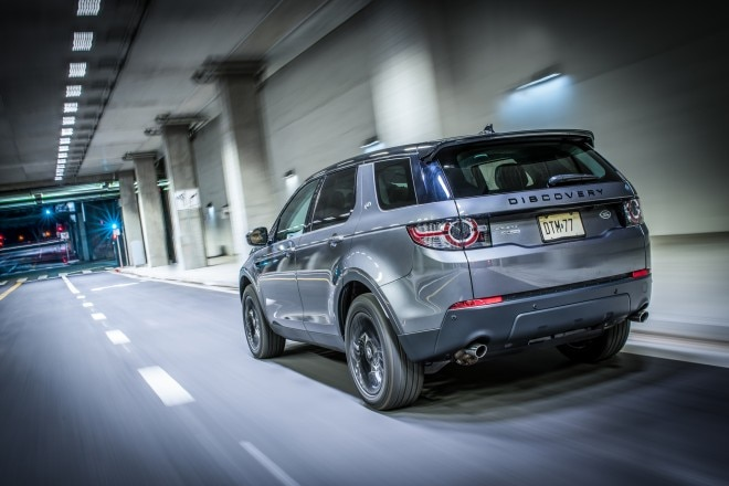2016 Land Rover Discovery Sport HSE rear three quarter in motion