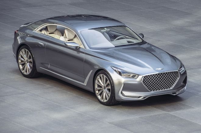 Hyundai Vision G Coupe Concept Front Three Quarter From Above