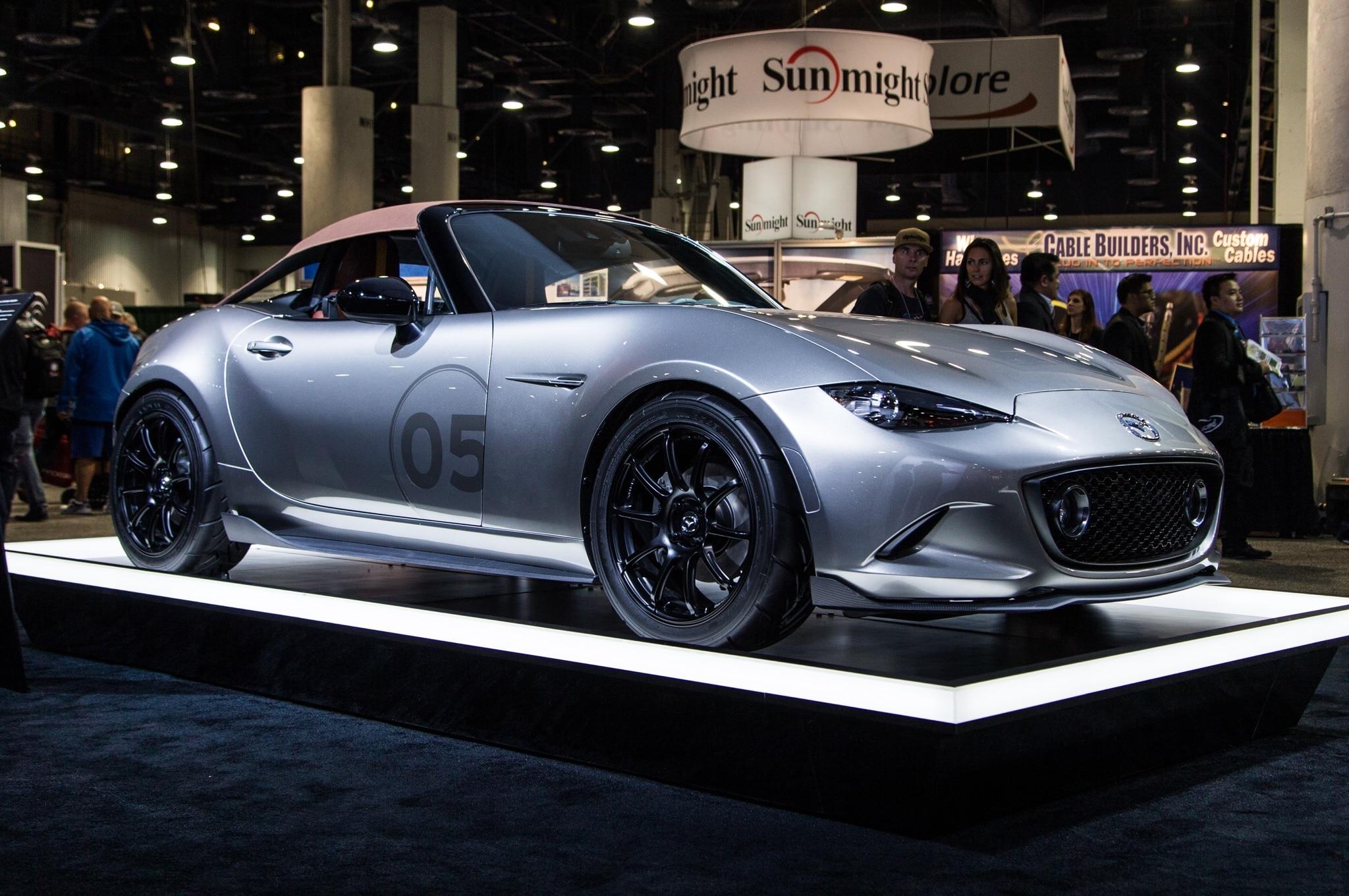 Mazda MX 5 Miata Spyder Concept Front Three Quarter 2