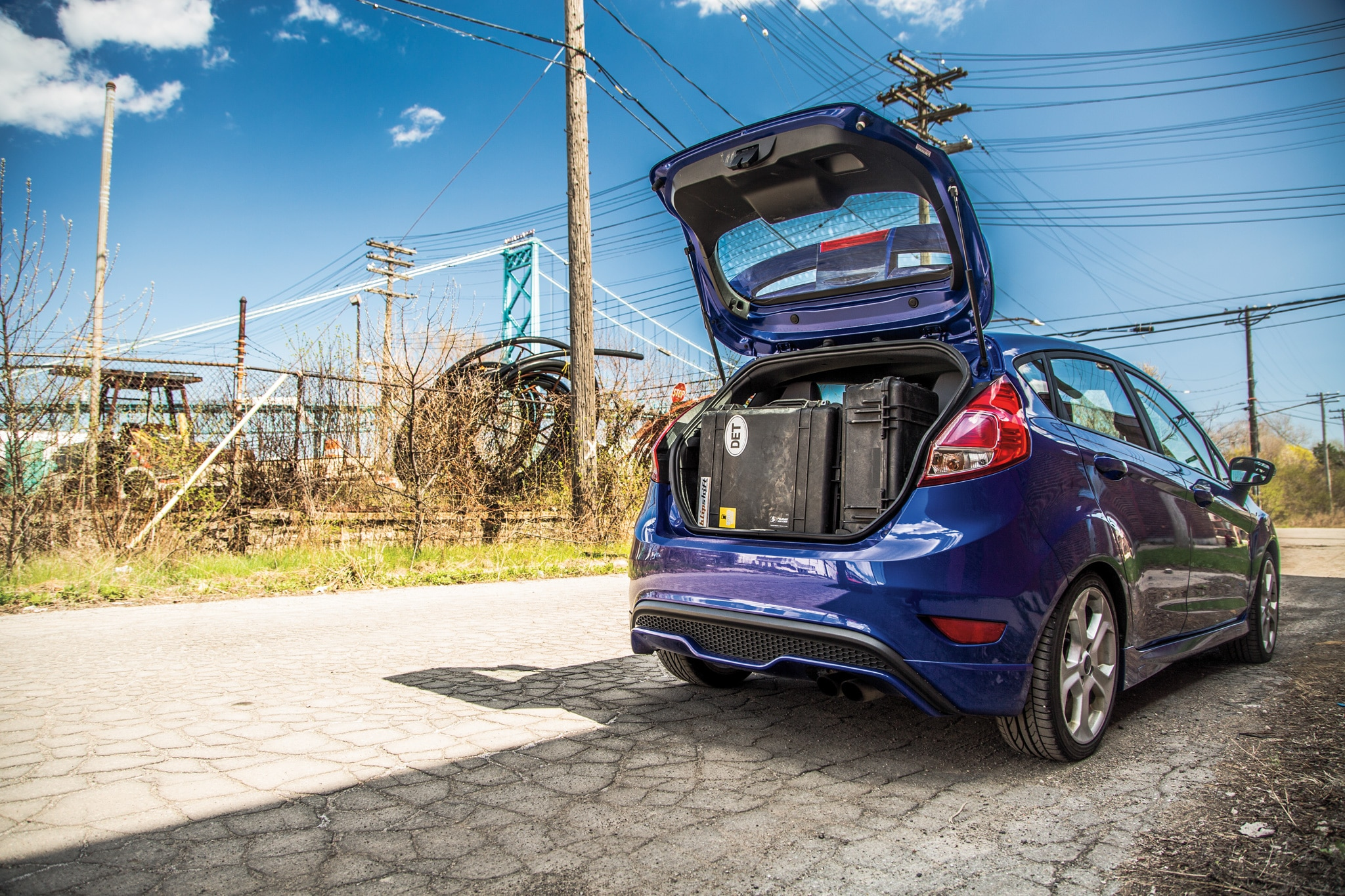 Good luck fitting this much junk in the Subaru BRZ's trunk—staff photographer Patrick M. Hoey managed to 
