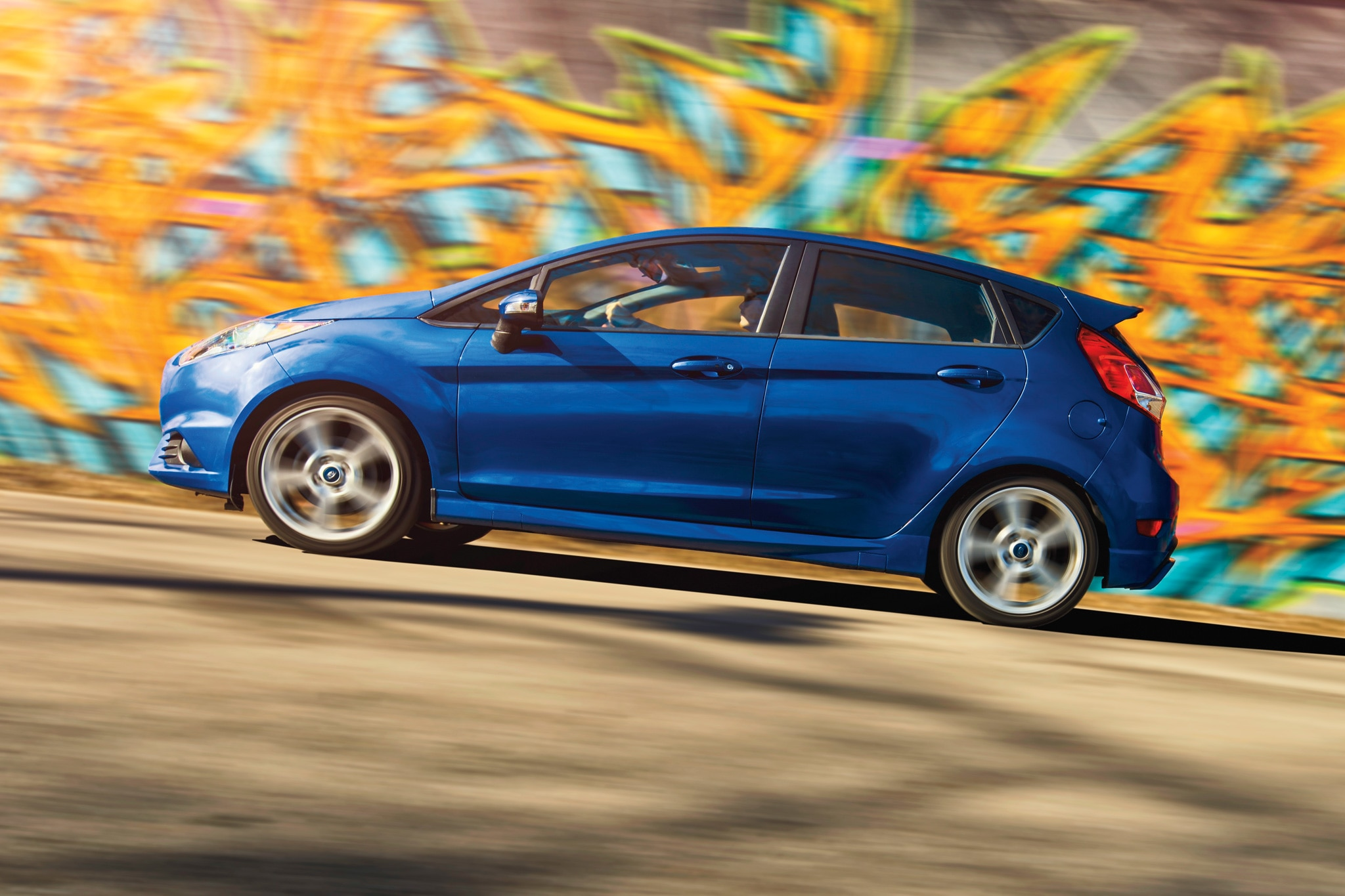 2014 Ford Fiesta ST Side Profile In Motion1
