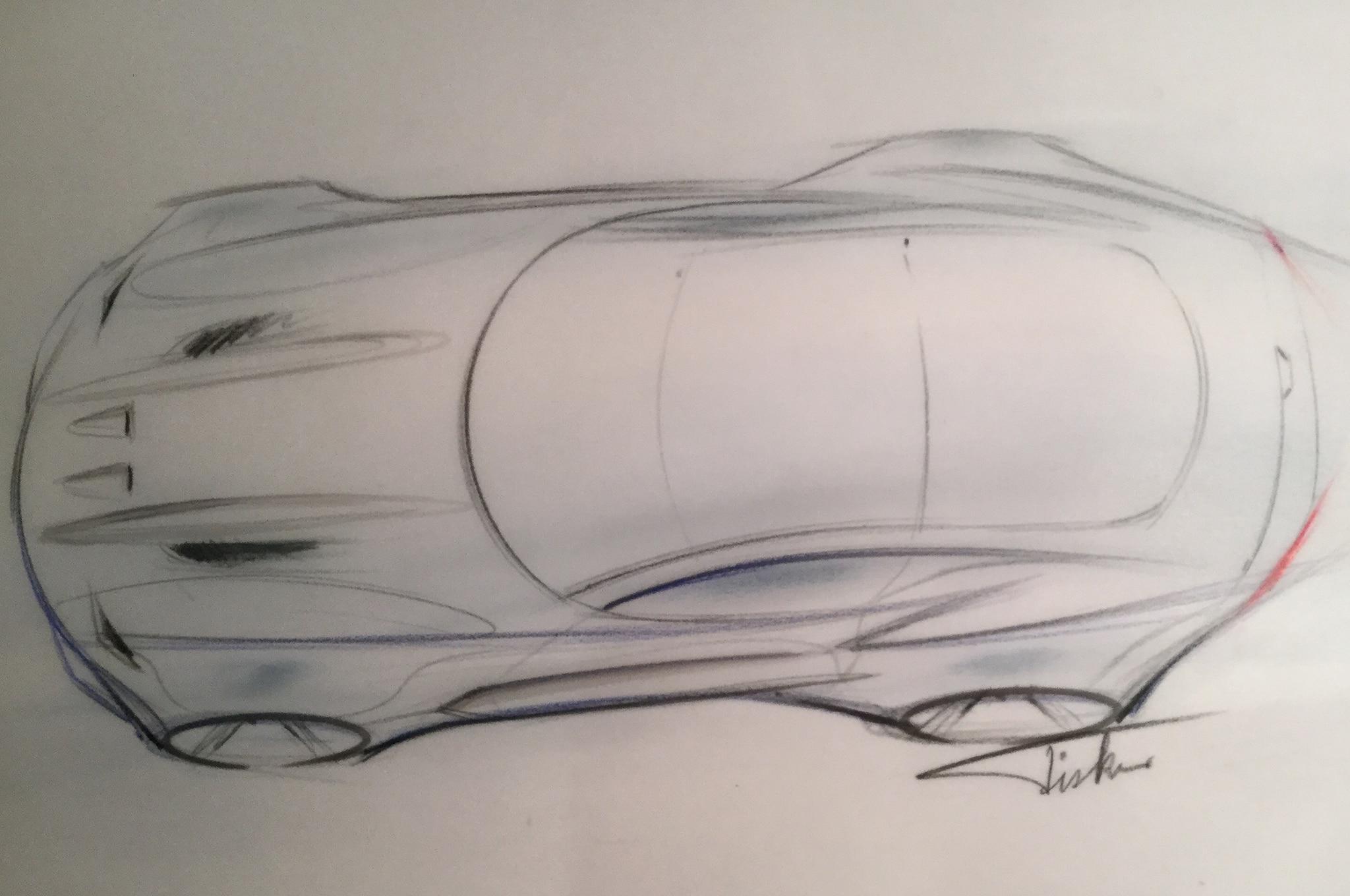 Henrik Fisker Design The Force 1 Sketch