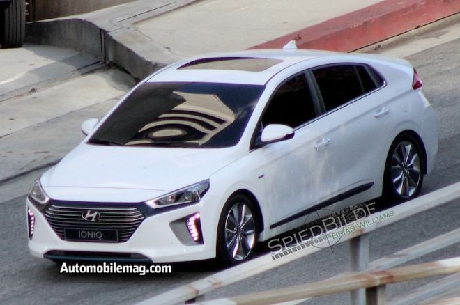 Hyundai Ioniq Spy Photos Front Three Quarter3