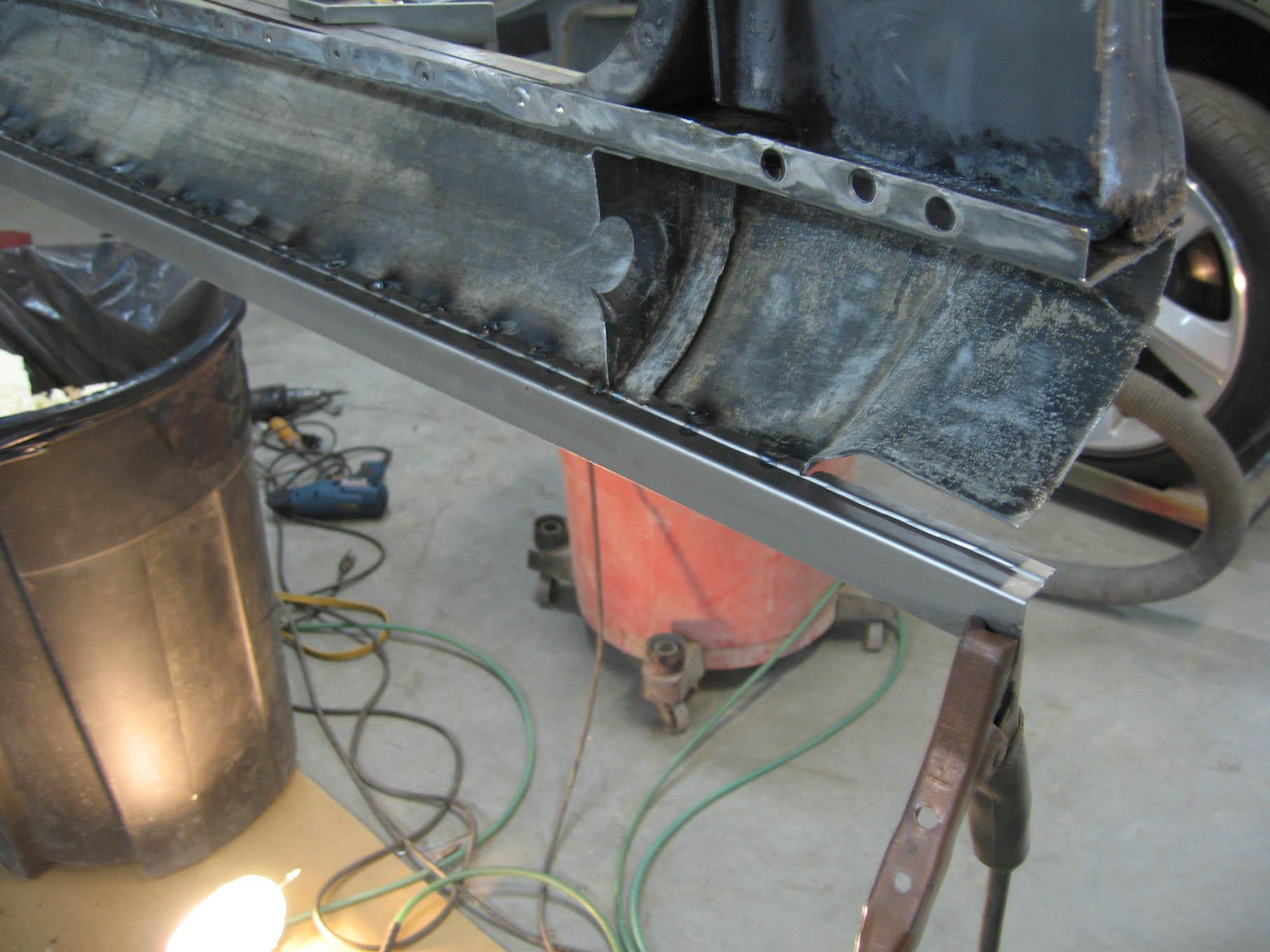 Turning A Wrecked Charger Srt8 Into 69 Dodge Daytona Clone Photo 1968 Firewall Wiring Harness Diagram 054 Rocker Panel Merger 2013 09 08 003 Lpr