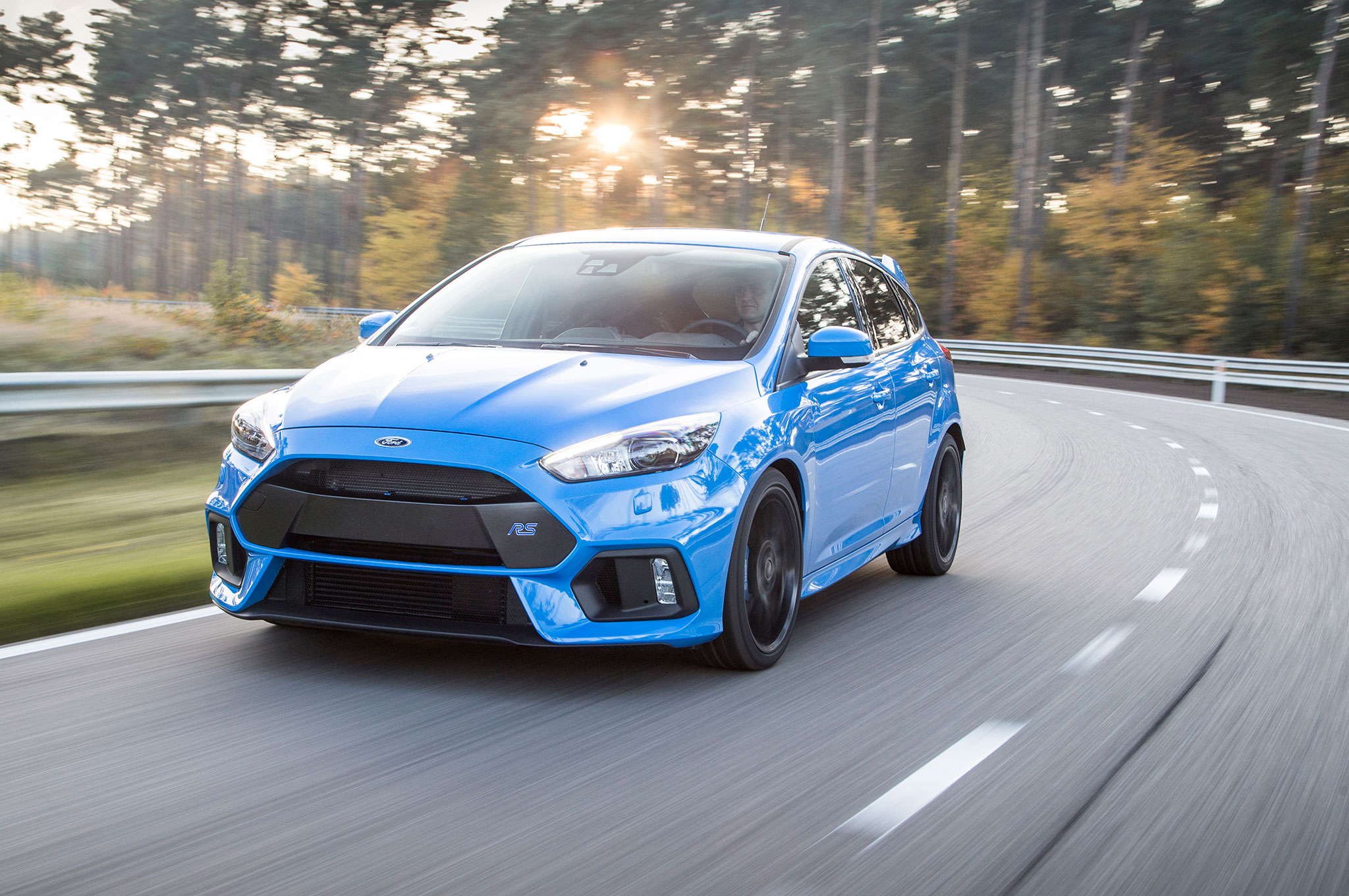 2016 Ford Focus RS Euro Spec Front Three Quarter In Motion 24