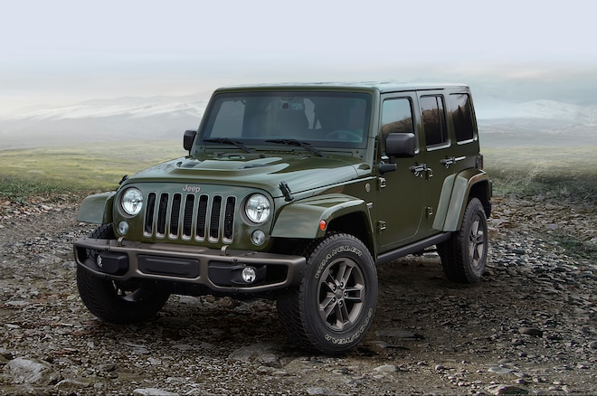 2016 Jeep Wrangler Unlimited 75th Anniversary Edition Front Three Quarter2
