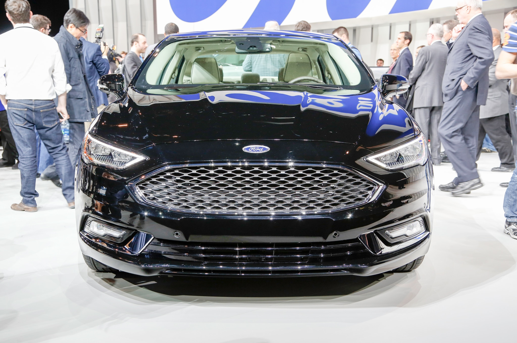 Focus St Aftermarket Grill >> 2017 Ford Fusion Refreshed for Detroit, Adds 325-HP V6 Sport Model