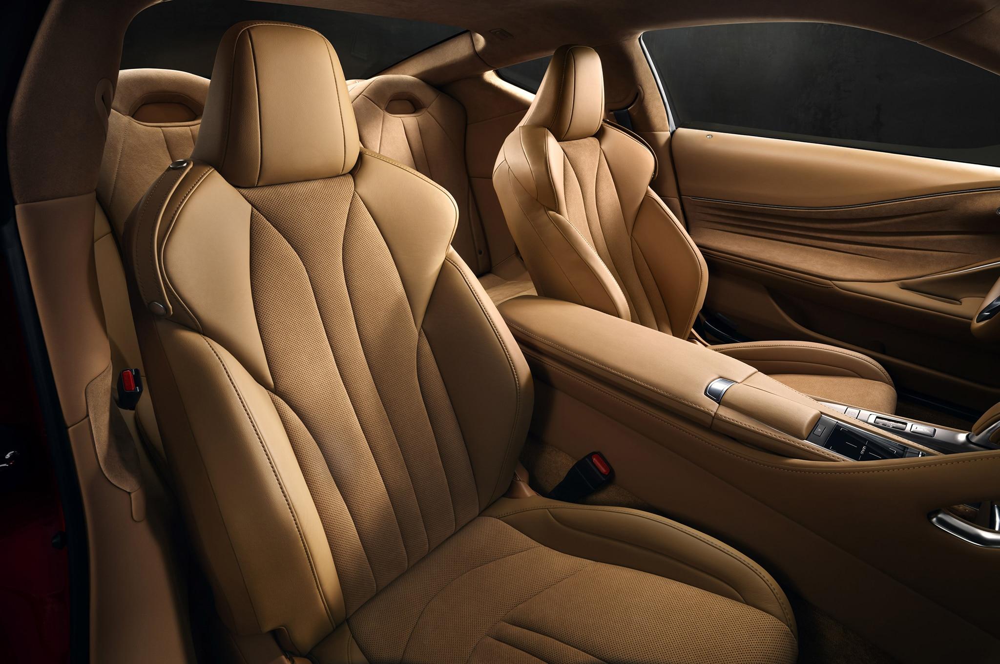 2017 Lexus LC 500 front seats