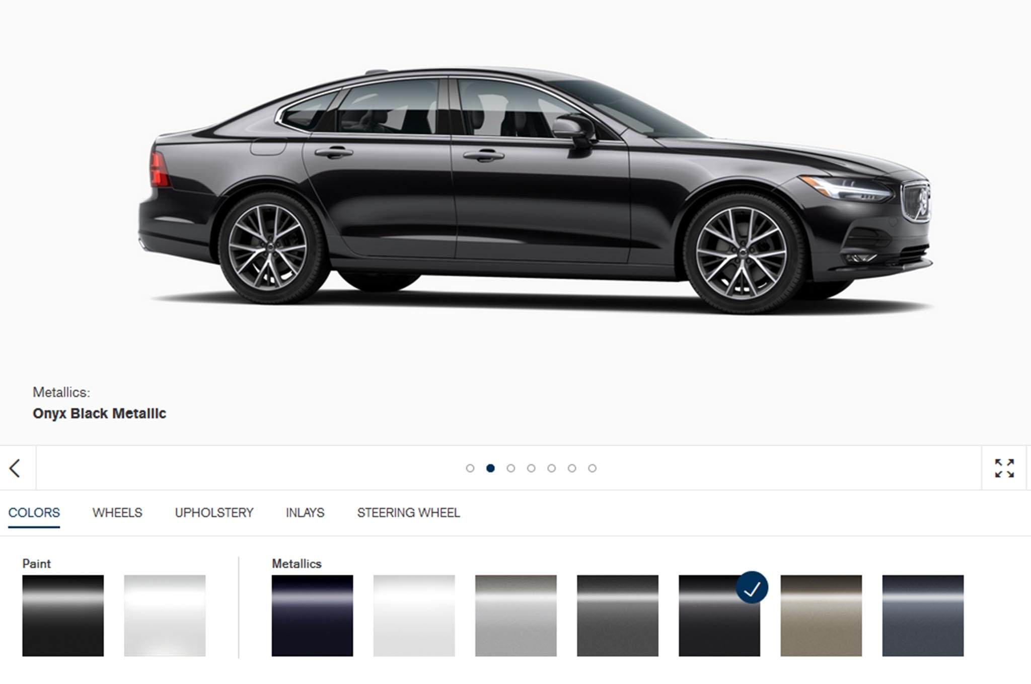 2017 Volvo S90 Build Your Own Screenshot