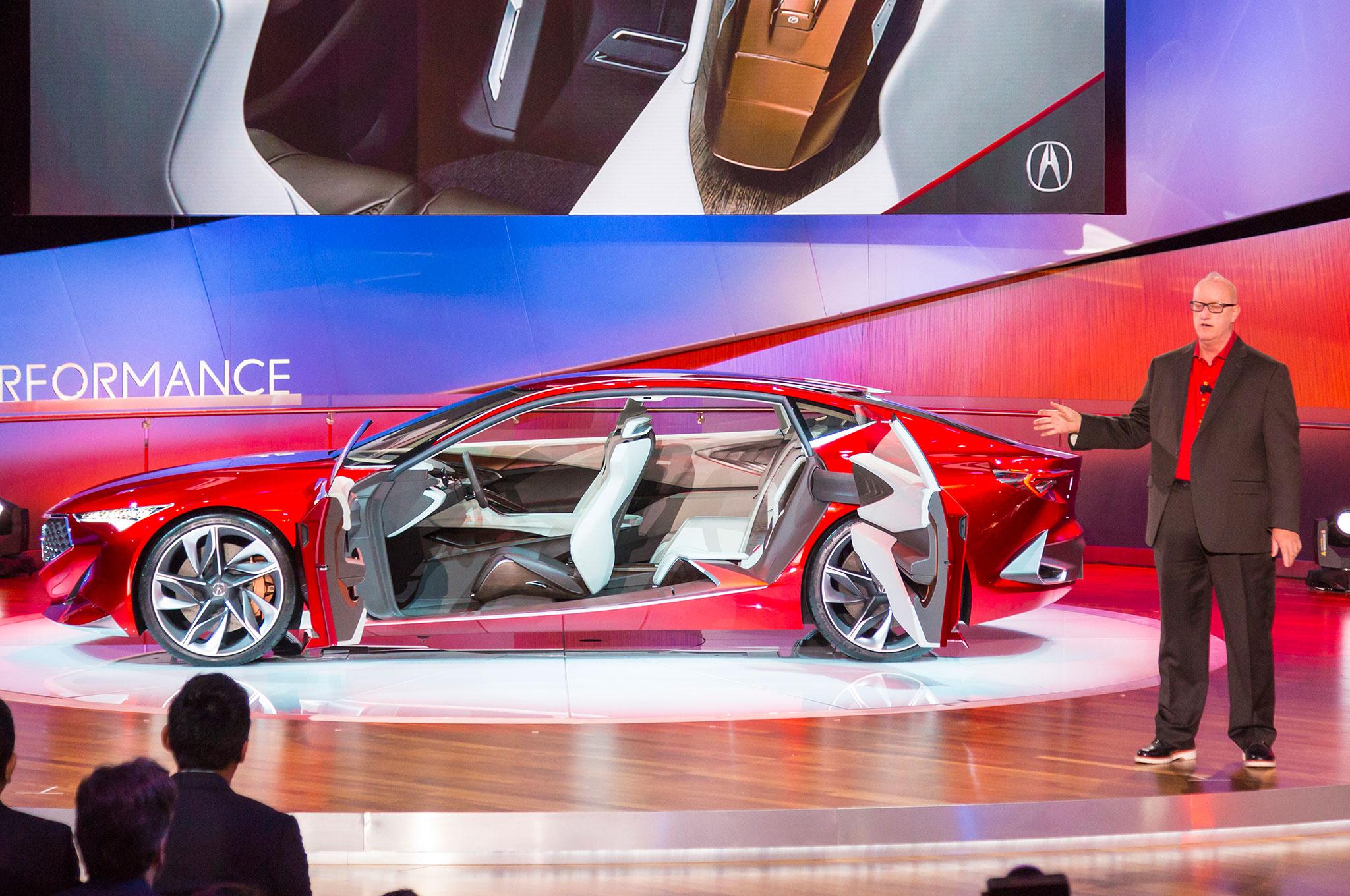 Dave Marek With Acura Precision Concept