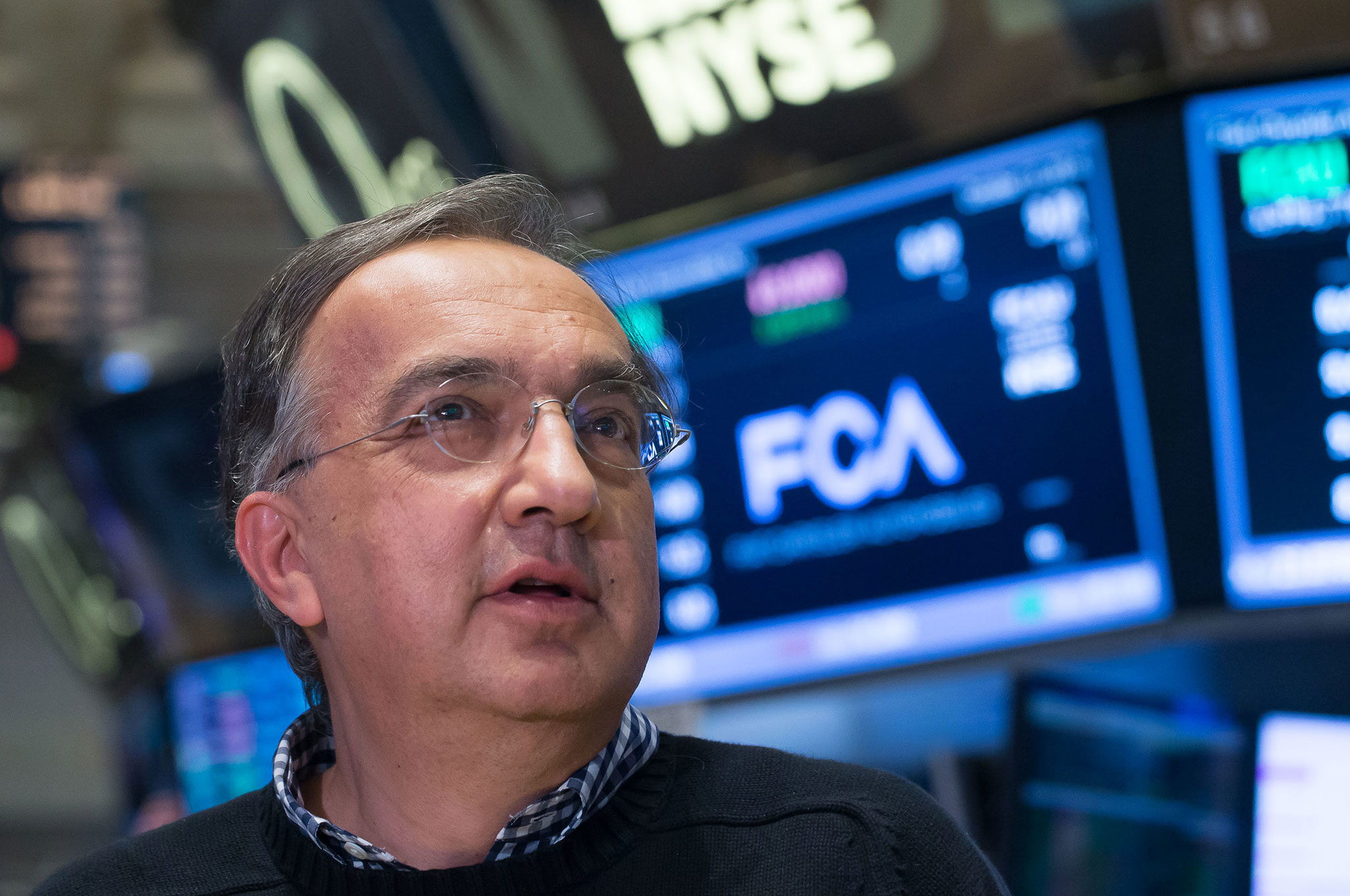 Sergio Marchionne With NYSE