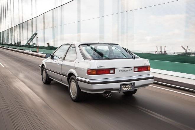1986 Acura Integra LS rear three quarter in motion