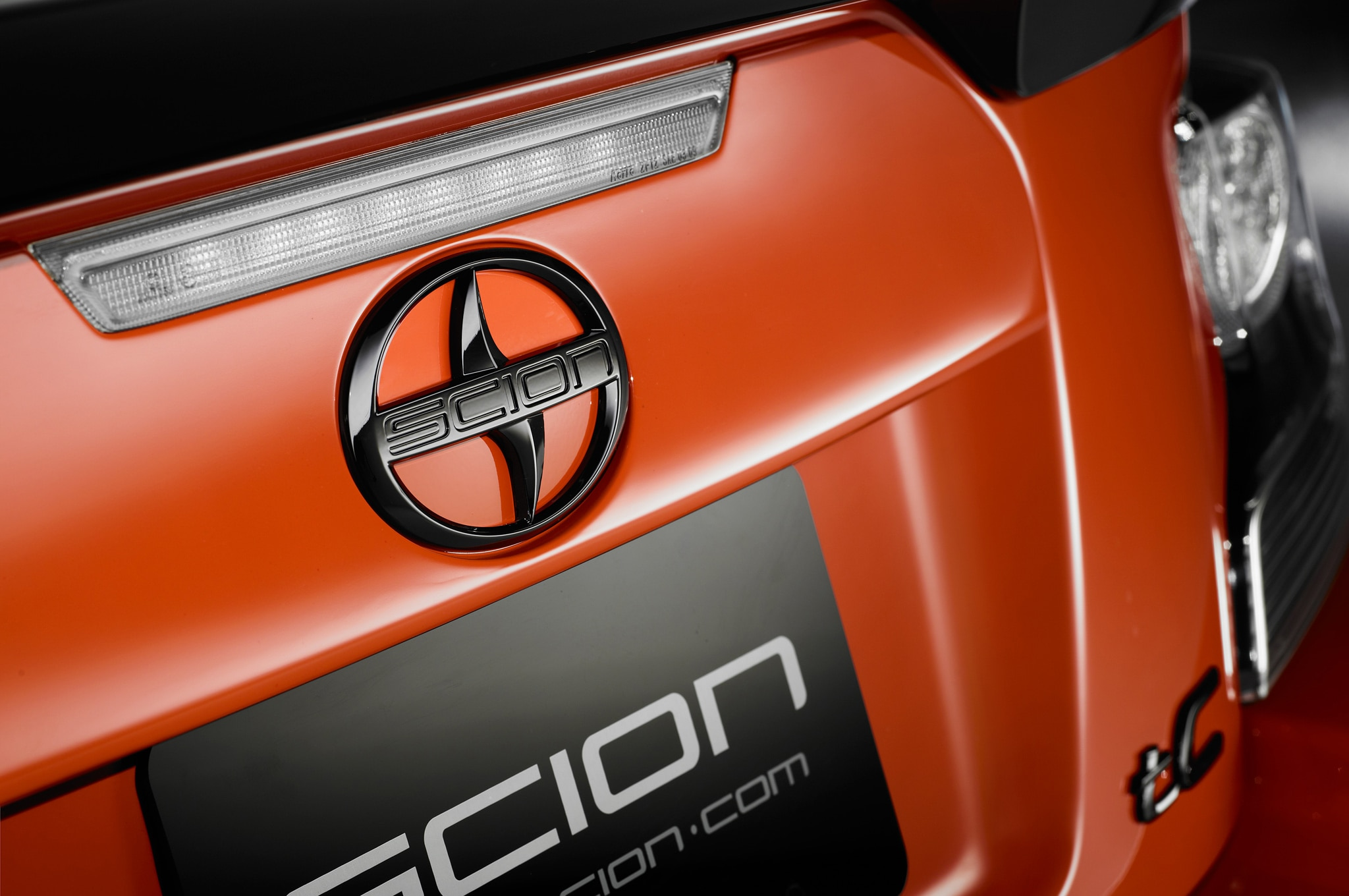 2015 Scion TC Release Series 9 Rear Badge Closeup