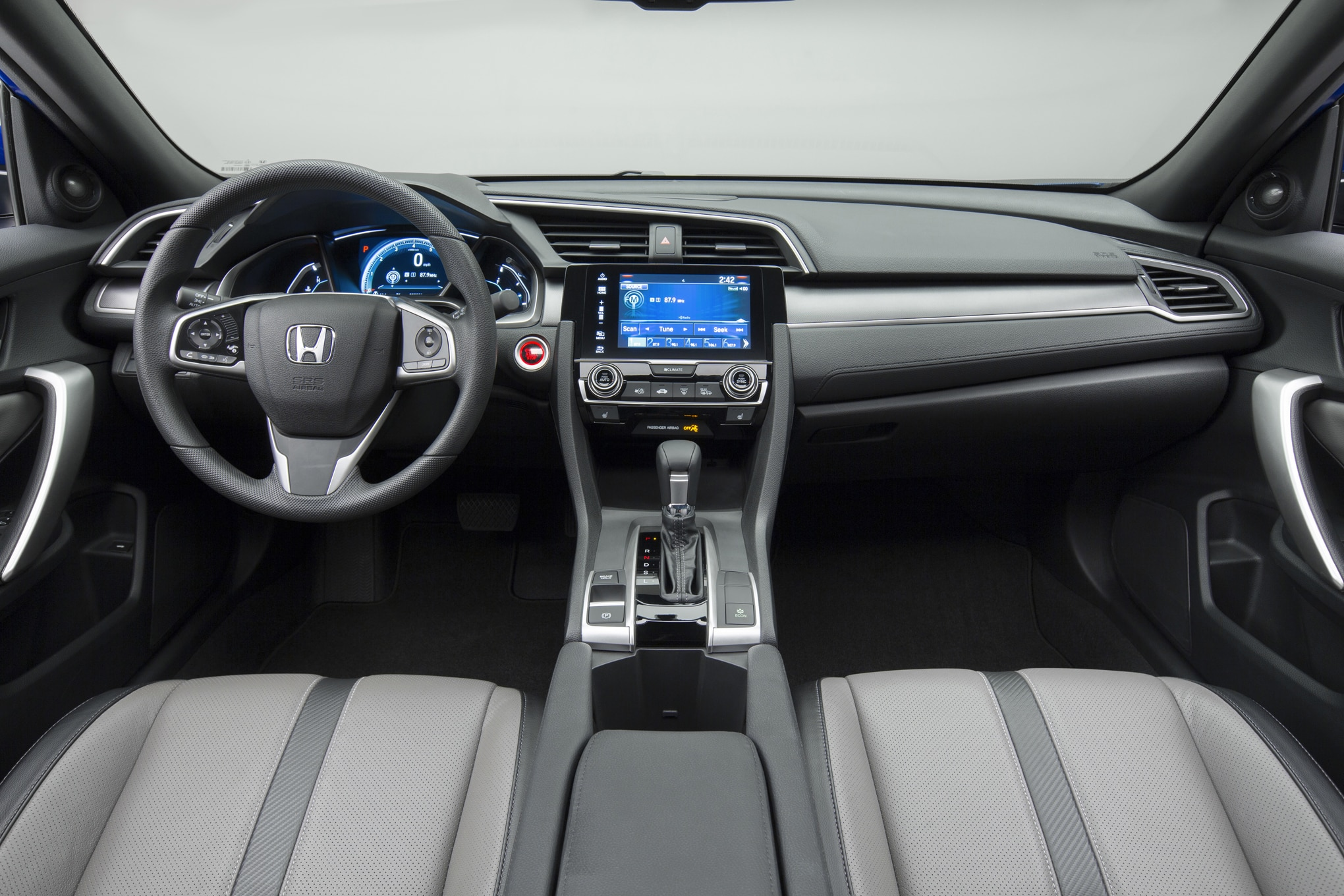 2016 honda civic coupe review automobile magazine - 2016 honda civic si coupe interior ...
