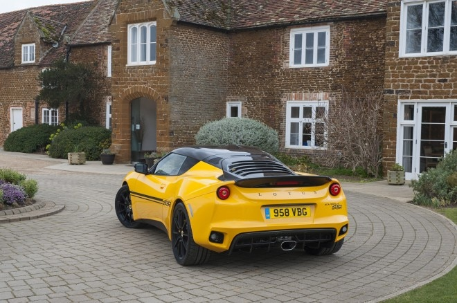 2016 Lotus Evora 410 rear three quarters