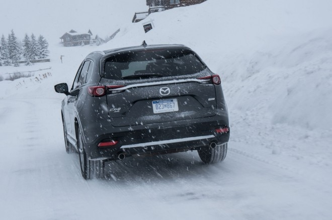 2016 Mazda CX 9 rear three quarter in motion