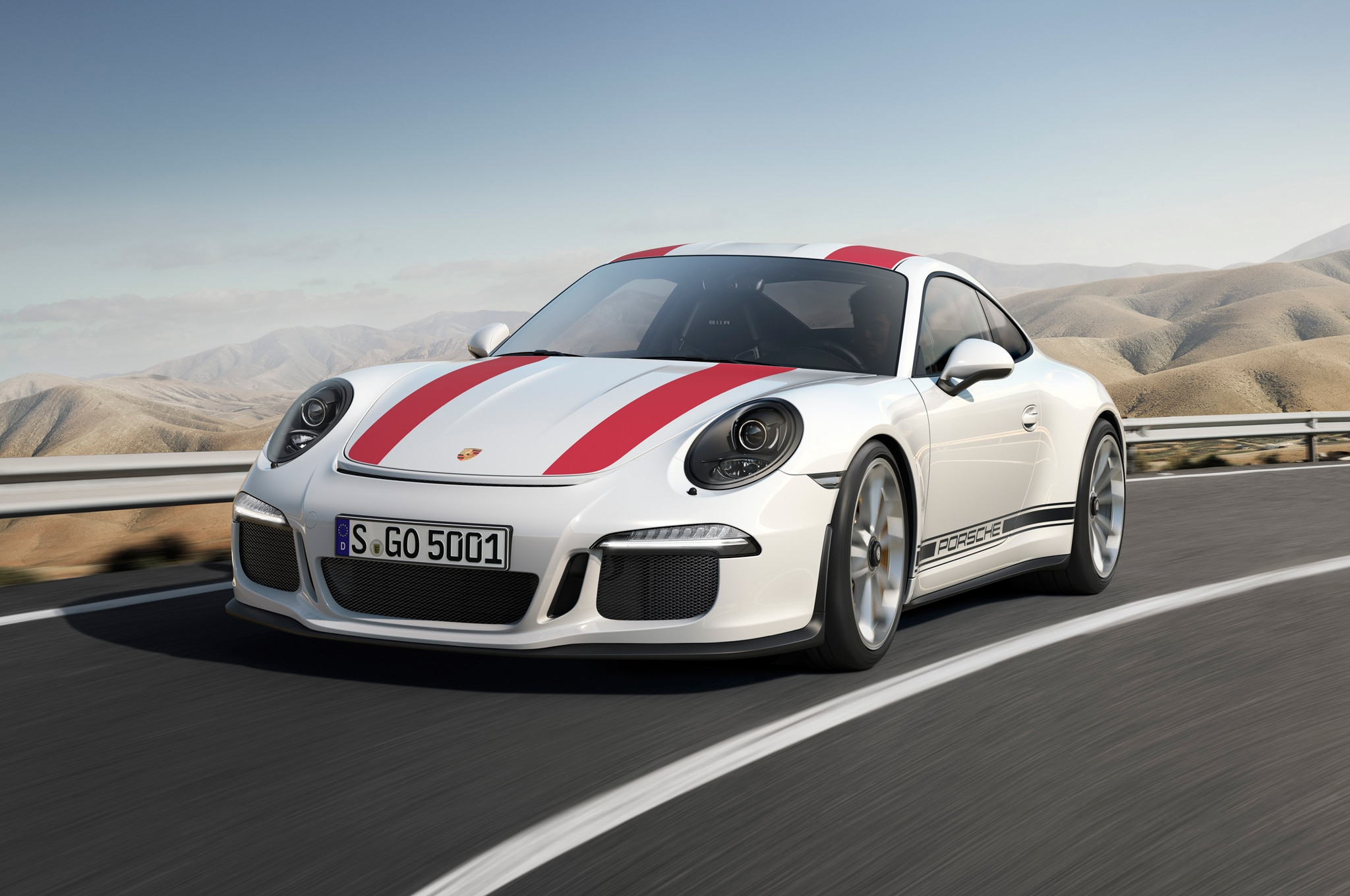 2016 Porsche 911 R Front Three Quarter In Motion
