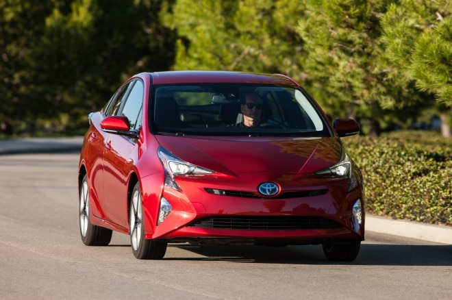 2016 Toyota Prius Four Touring front view in motion