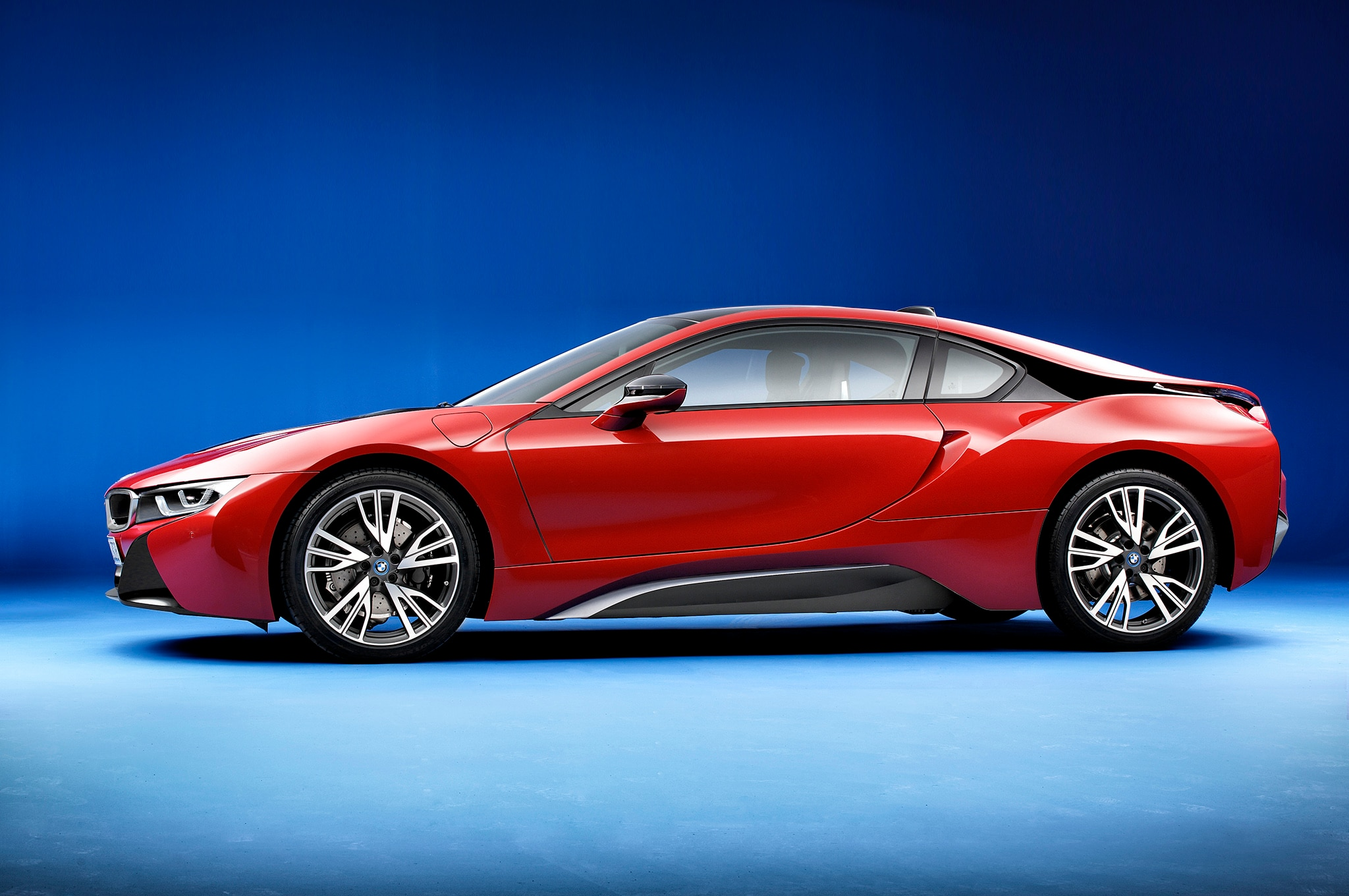 2017 BMW I8 Protonic Red Edition Side