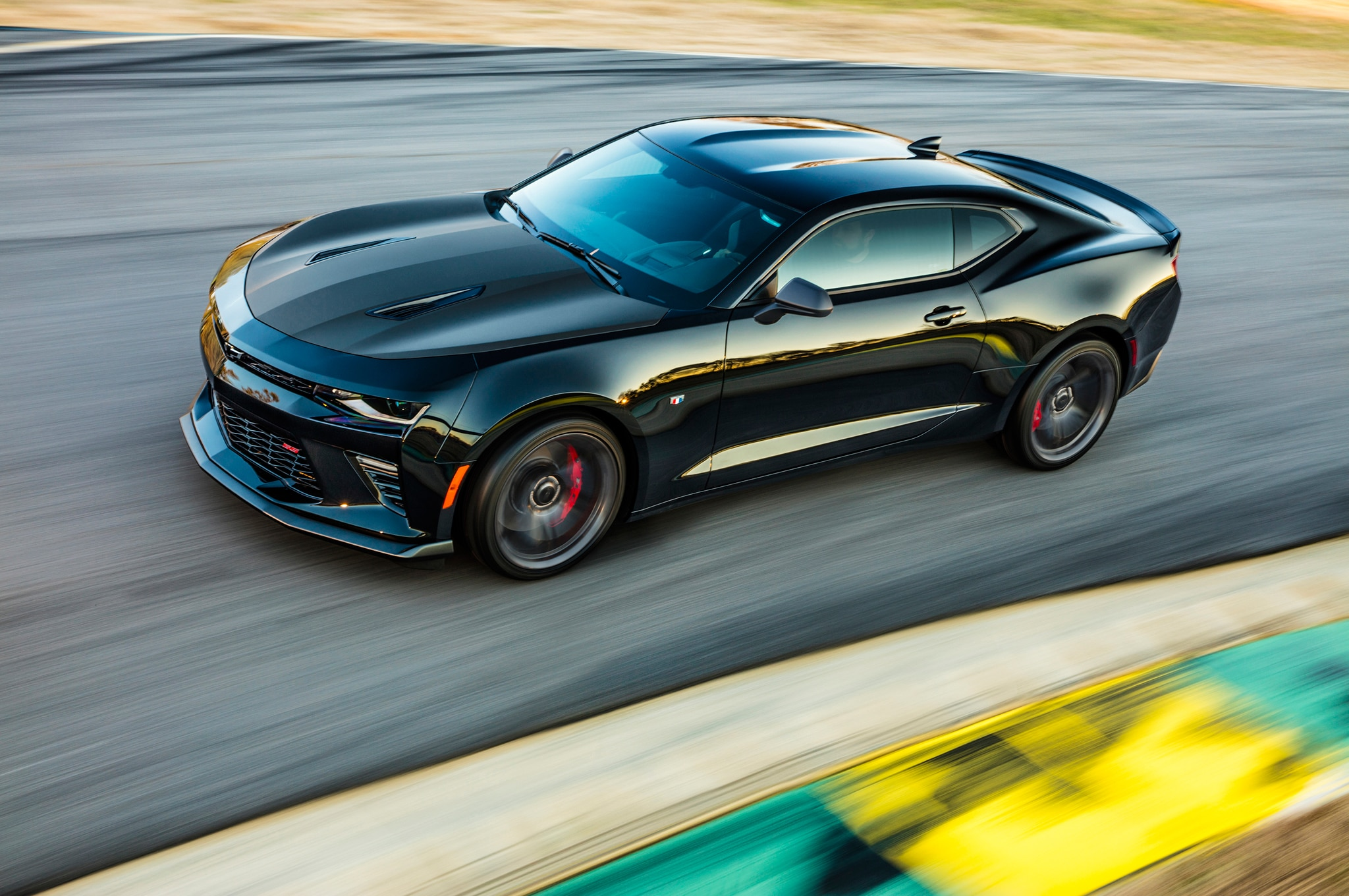 2017 Chevrolet Camaro 1LE front three quarter in motion