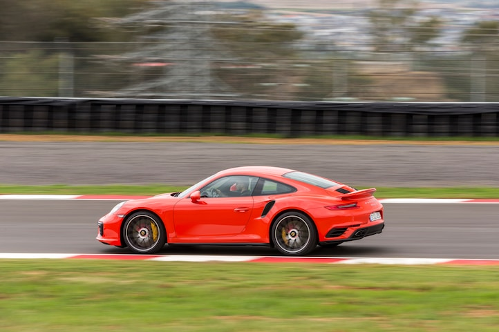 2017 Porsche 911 Turbo S side in motion