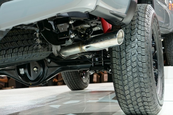 2017 Toyota Tacoma TRD Pro chassis detail