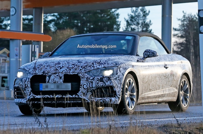 Audi A5 Cabriolet Spied Front Three Quarters 04