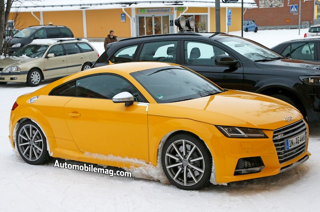 Audi TT RS Spyshot Front Three Quarter 2