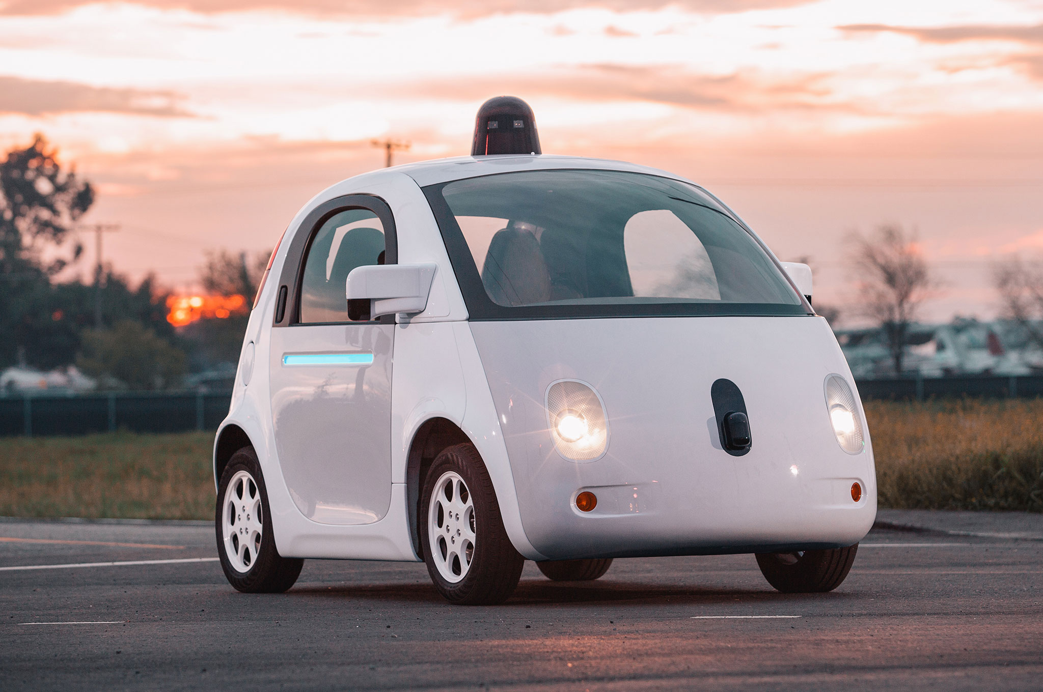 Google Self Driving Car Prototype Front Three Quarters