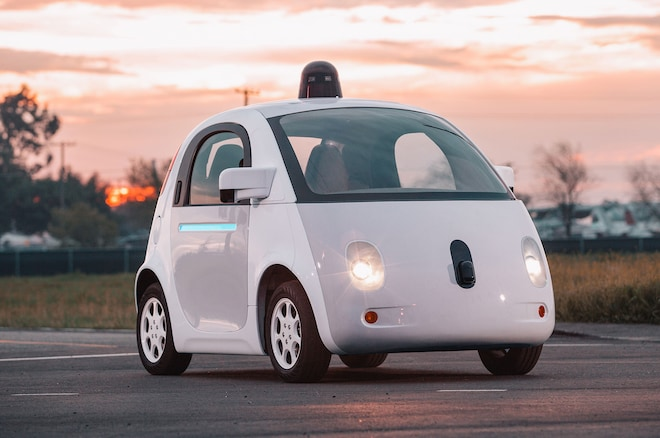 Google Self Driving Car Prototype Front Three Quarters