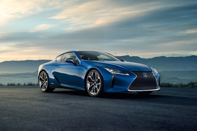 Lexus LC 500h Front Side View